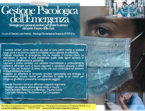 LEZIONE – Gestione psicologica dell'emergenza